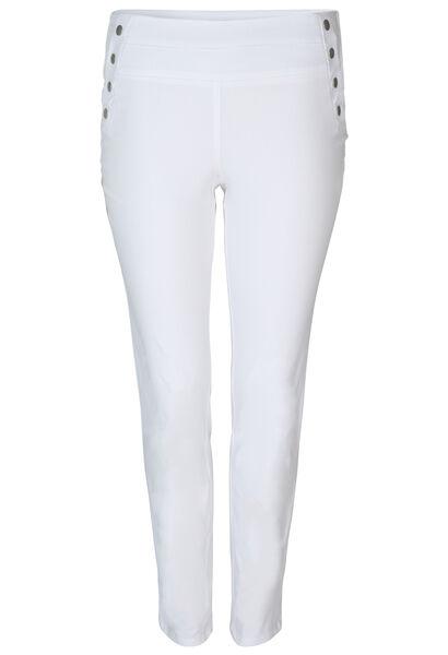 Pantalon bengaline empiècement à la taille - Blanc