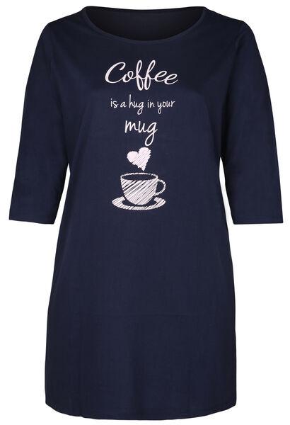 "Robe de nuit ""coffee is a hug in your mug"" - Marine"