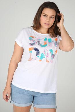 """T-shirt """"Sun day"""", Blanc"""