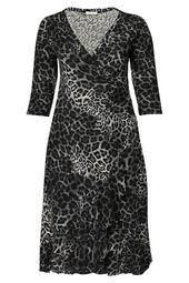 Robe longue imprimé léopard