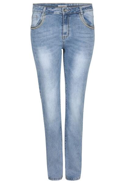 Jeans straight - Longueur 34 - Denim