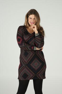 Robe imprimée losanges, multicolor
