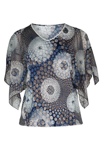 T-shirt imprimé effet gomme - Indigo