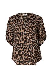 Blouse imprimé léopard et strass