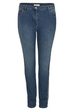 Jeans slim bandes sportswear, Denim