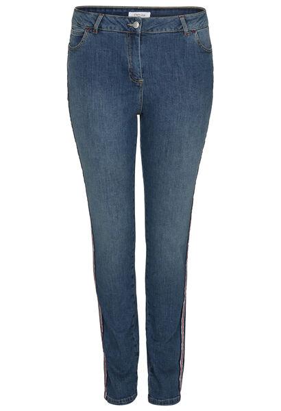 Jeans slim bandes sportswear - Denim