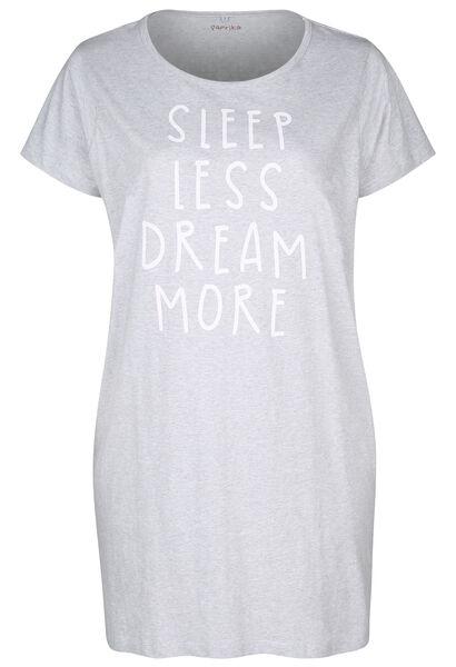 "Robe de nuit ""Sleep less, dream more"" - Gris Chine"