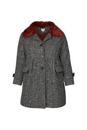 Manteau col fausse fourrure