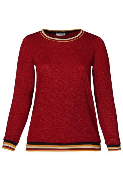 Pull bandes sportswear - Bordeaux