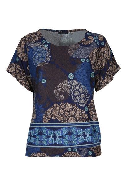 T-shirt en maille chaude - Indigo