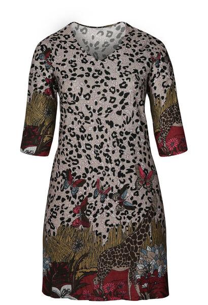 Robe tunique imprimé safari - Bordeaux