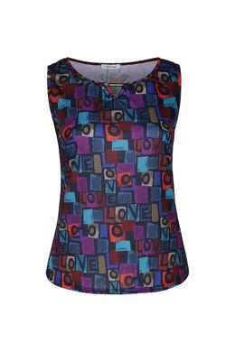 """T-shirt imprimé coloré """"Love"""", Marine"""