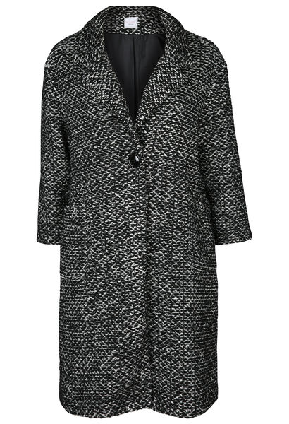 Long manteau en laine - Noir