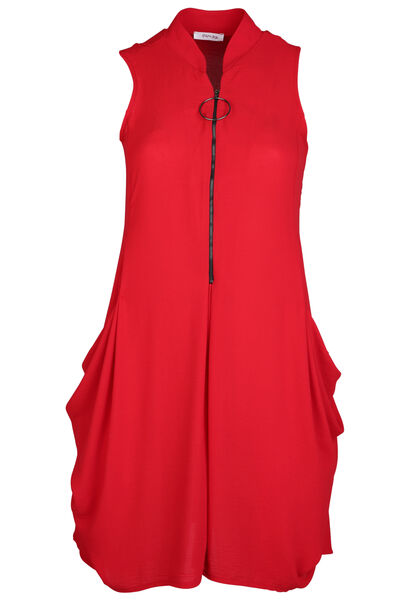 Robe tunique - Rouge