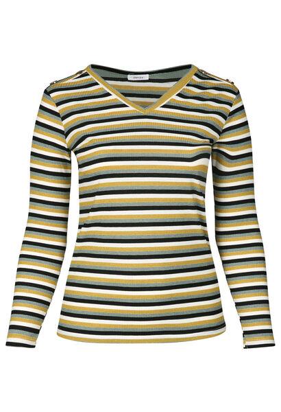 T-shirt imprimé rayures en lurex - Canard