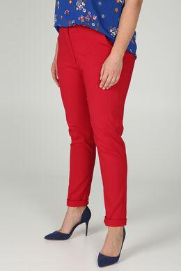 Pantalon en bengaline, Rouge