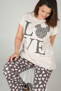 T-shirt de nuit Love, Beige
