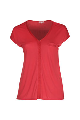 T-shirt en viscose, Orange