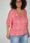 T-shirt imprimé gomme petites rosaces, Rouge