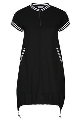 Robe tunique style sportswear, Noir