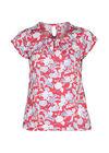 T-shirt maille froide imprimé gomme fleurs et feuilles, Orange