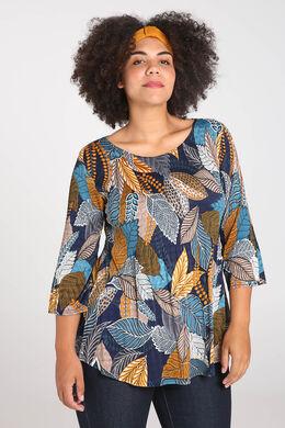site réputé adf66 679e8 Tunique t-shirt imprimé feuilles