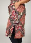 Robe longue chemise imprimé cachemire, multicolor