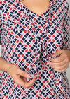 T-shirt maille froide imprimé mosaïques, Marine