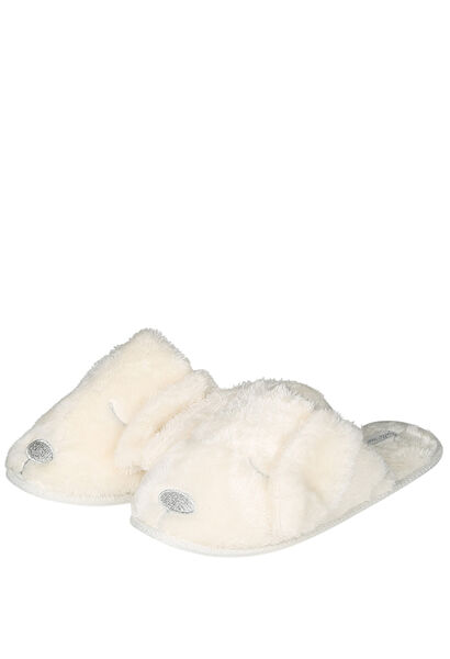 Pantoufles de nuit chien / chat - Ecru