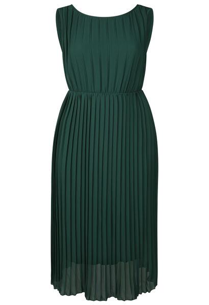 Robe longue voile plissé - Vert Fonce