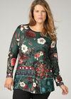 Tunique t-shirt imprimé grandes fleurs, Canard
