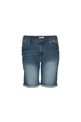 Short en jeans à revers, Denim