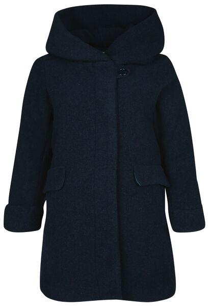 Manteau en laine avec capuche - Marine