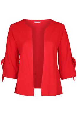 Cardigan manches larges avec noeuds, Rouge