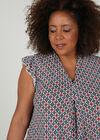 T-shirt imprimé forme géométrique, Indigo