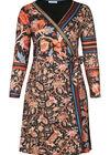 Robe portefeuille imprimé baroque, multicolor