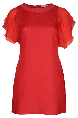 Robe en lin, Orange