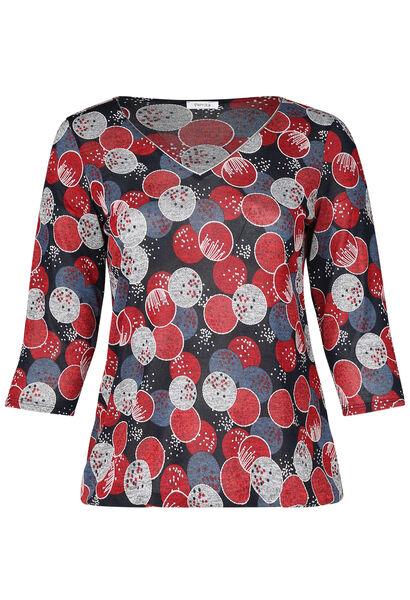 T-shirt imprimé gomme ronds - Rouge