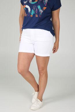Short 5 poches en coton, Blanc