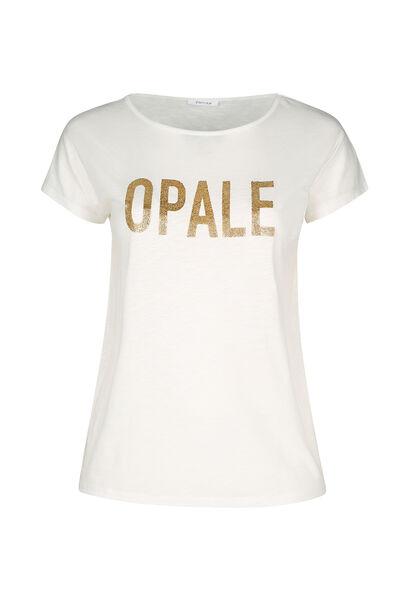 """T-shirt maille flammé """"Opale"""" - Ecru"""