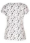 T-shirt coton imprimé papillons, Blanc