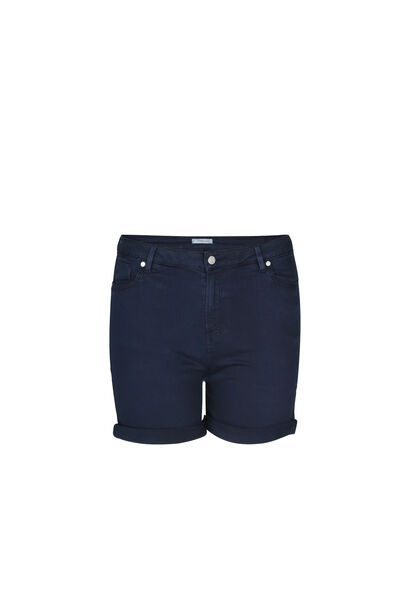 Short 5 poches en coton - Marine