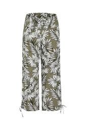 Pantalon fluide imprimé palmier