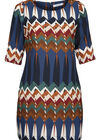 Robe housse imprimé ethnique, multicolor