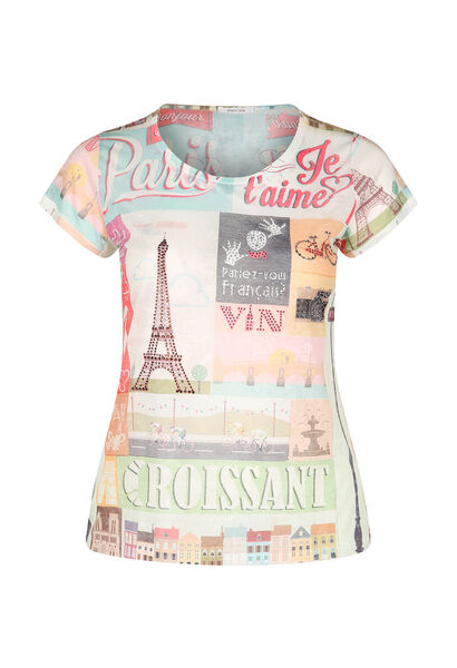 T-shirt imprimé Paris - multicolor