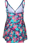 Maillot de bain robe imprimé tropical, multicolor